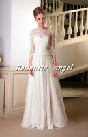 2013 Modest Vintage Long Sleeve Wedding Gowns