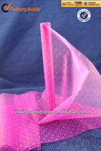 polyester/nylon organza cheap fabric rolls,crystal organza roll,glass orgnanza roll