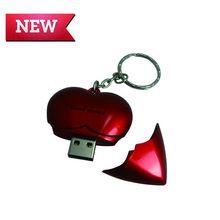 promotional plastic heart shape 1gb usb flash memory