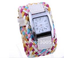 Korea Rope Watch Braided Leather Cord bracelet watch.Lady watch