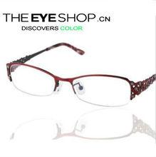2012 latest optical eyeglass frames for woman fashion metal for myopia