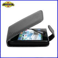 New Arrival Flip Leather Case for LG Optimus L3 E400 Black ,Flip Cover ---Laudtec