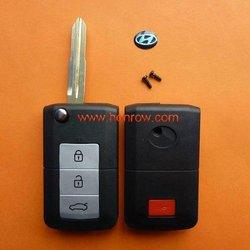 Lowest Price Hyundai 3+1 Button flip remtoe key blank,Hyundai key shell,Hyundai keys