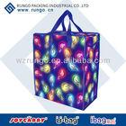 Custom promotional zipper tote shopper bag
