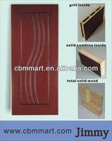 glass insert solid wood door