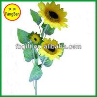 Hotel and Home Decoration Artificial Silk Single Stem Artificial Sunflower Arrangement (FB013968)