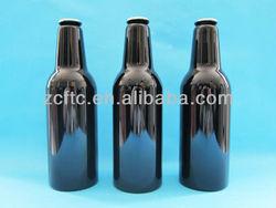 330ml black aluminum beer bottle,aluminum bottle