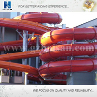 fiberglass water slide combination