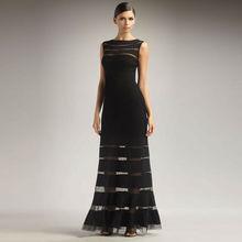 fashion Black long evening bandage dress H428
