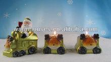 colorful ceramic christmas candle holder ,tealight holder