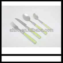 many color for selection plastic spoon fork knife sets
