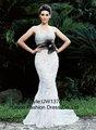 sexy ver através do estilo sereia vestido de noiva
