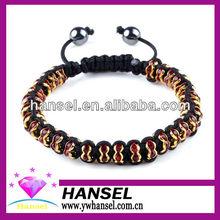 NEW Cuff AB Crystal Gold Silver P beads Bangle Macrame bracelets
