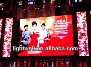 China new products HD p6 indoor flexible dot matrix video led display