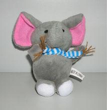 10cm promotional stuffed plush elephant keychain toy,stuffed elephant keyring