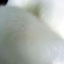 long pile white faux fox fur