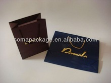 2013 Luxury paper shopping bag with PP rope handle