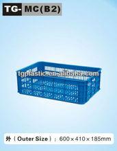 Mesh plastic crate box for bread