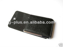 Black Leather Flip Battery Cover Case for Samsung SGH-F480 Tocco