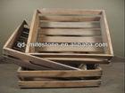 3 vintage antique wood fruit crates