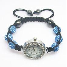 Crazy Sale 2012!!! Shamballa Watches Blue Crystal Beads Shamballa bracelets