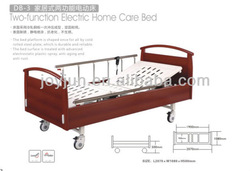 Wooden folding home care nursing bed carved Latest type!