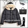 Steppte große Pelzhaube der Frauenwinterjacke dick Blazer 2013