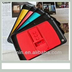Colorful plastic case for ipad mini case ,TPU cover for ipad mini
