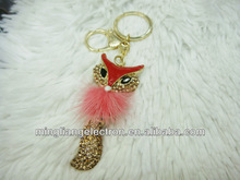 Fashion latest metal keychain fox