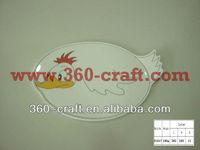 chicken shape kids plate