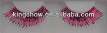 2013 new style decorative colorful synthetic false strip eyelashes pack