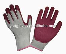 Cheap latex dipped garden women work glove