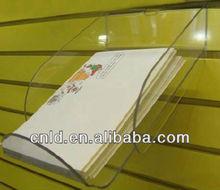 Clear acrylic wall mount display shelf