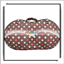 Portable Colorful Dots Pattern Bra Storage Box Container