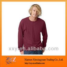 cheap mens sports plain long sleeves t-shirt cotton 2012