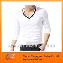 CheapV-neck Mens Sports T shirt Large Quantity Cotton 2012