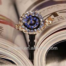 yiwu linluan jewelry factory Snail earphone jack plug for Smartphone DP90464
