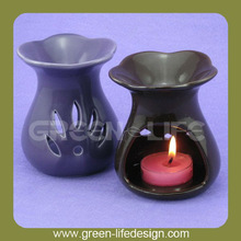 Ceramic purple glazed scented candle wax warmer