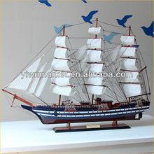 big wooden decorative ships model