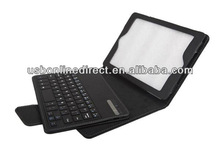 colorful Removeable PU leather Bluetooth keyboard case for Mini iPad