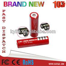 3.7v 3000mah recharge lithium-ion battery/ li-ion ICR 18650 battery