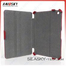 colorful leather case for ipad mini fabric inside