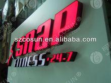 aluminum backboard frontlit letters signboard