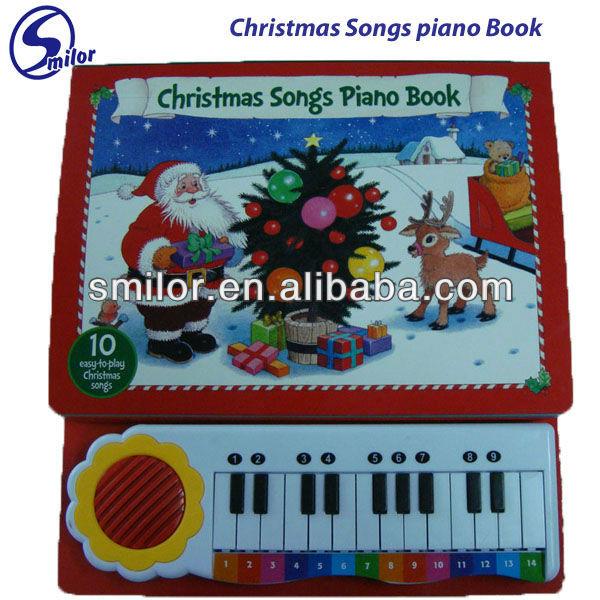 أغنيات عيد الميلاد البيانو الكتاب -- 10 سهلة -- إلى -- العب أغنيات عيد الميلاد