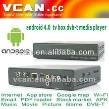 HDMI set top box Android DVB-T media player google 4.0 TV box internet tv set top box