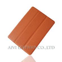 Light Brown 360 Degree Rotating Leather PU Case for iPad Mini