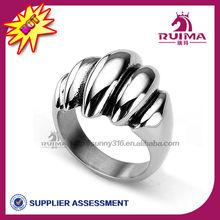 2013 hot sale 316L men's ring stainless steel human skeleton ring
