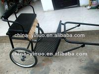 pretty black mini horse-drawn vehicle/pony horse carriage for kids