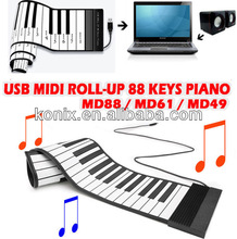 88 KEYS ROLL UP MIDI ELECTRONIC KEYBOARD PIANO MUSIC