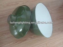 enamel lamp shades with green and white color light shade